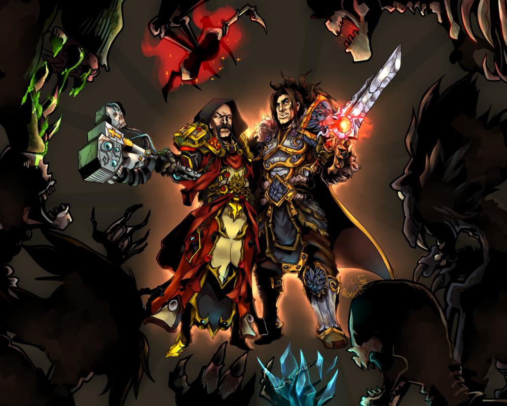 Commission: Zanfu + Varian vs. The Scourge by karniz