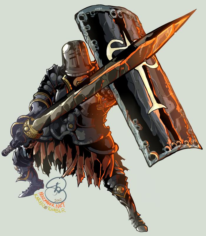 Dark Souls: Iron Knight Tarkus by karniz