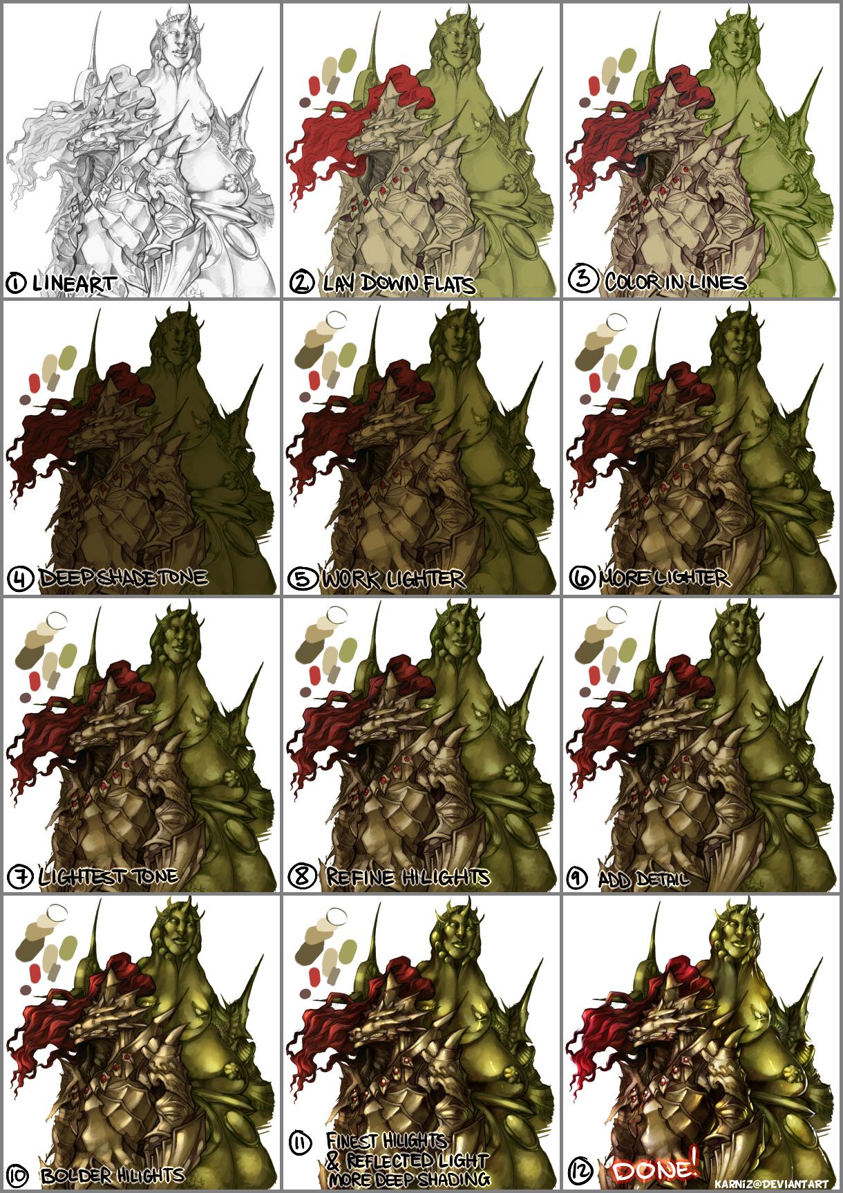 How I Color My Illustrations Part 02 by karniz