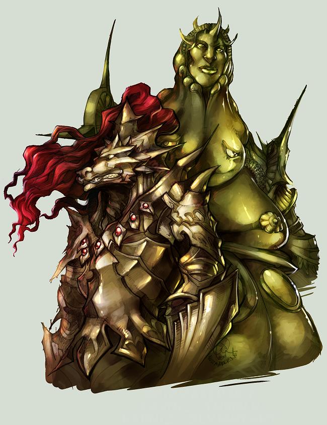 Dark Souls: Ornstein and Smough by karniz