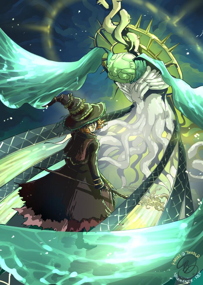 Dark Souls: Beatrice + The Moonlight Butterfly by karniz