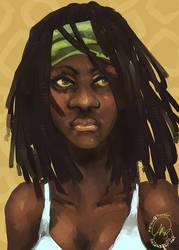 The Walking Dead: Michonne by karniz
