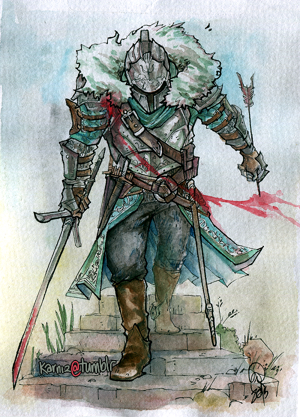 Dark Souls 2: Hero by karniz
