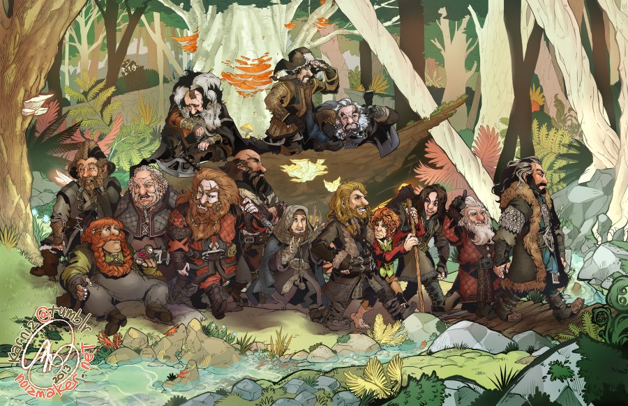The Hobbit: A Company of Dwarves by karniz