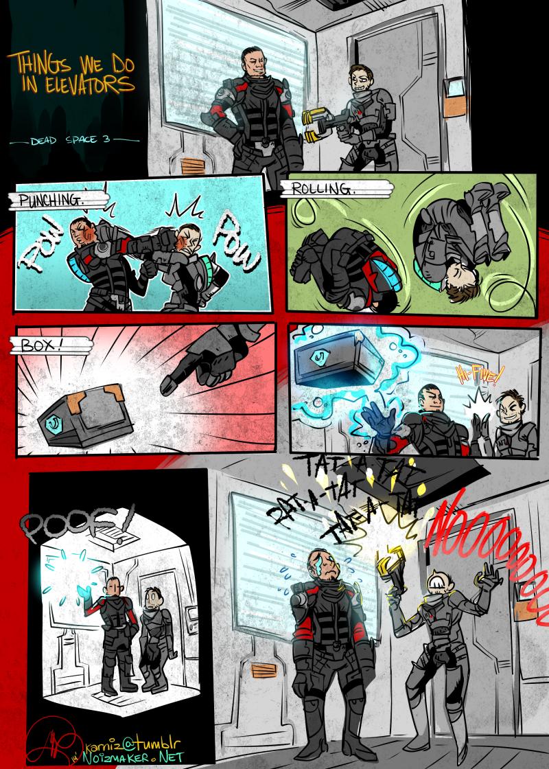Dead Space 3: Elevators by karniz