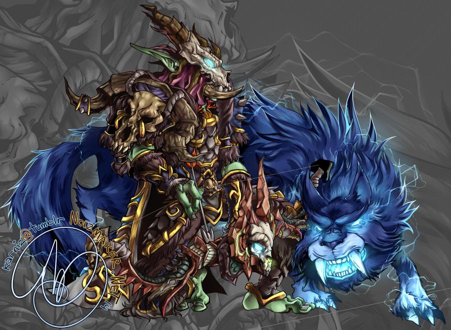 Commission: Vuzoku and Archon by karniz