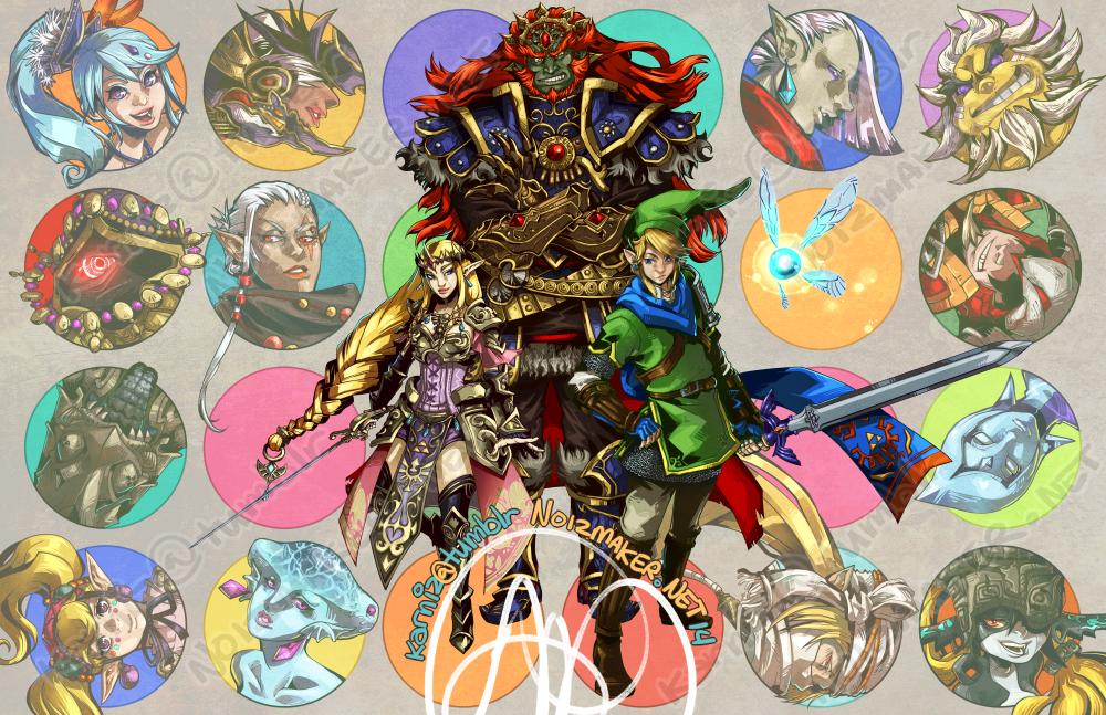 Hyrule Warriors: Cast by karniz