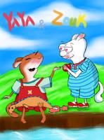 FAN ART Yaya and Zouk 1 by CheribumAngel