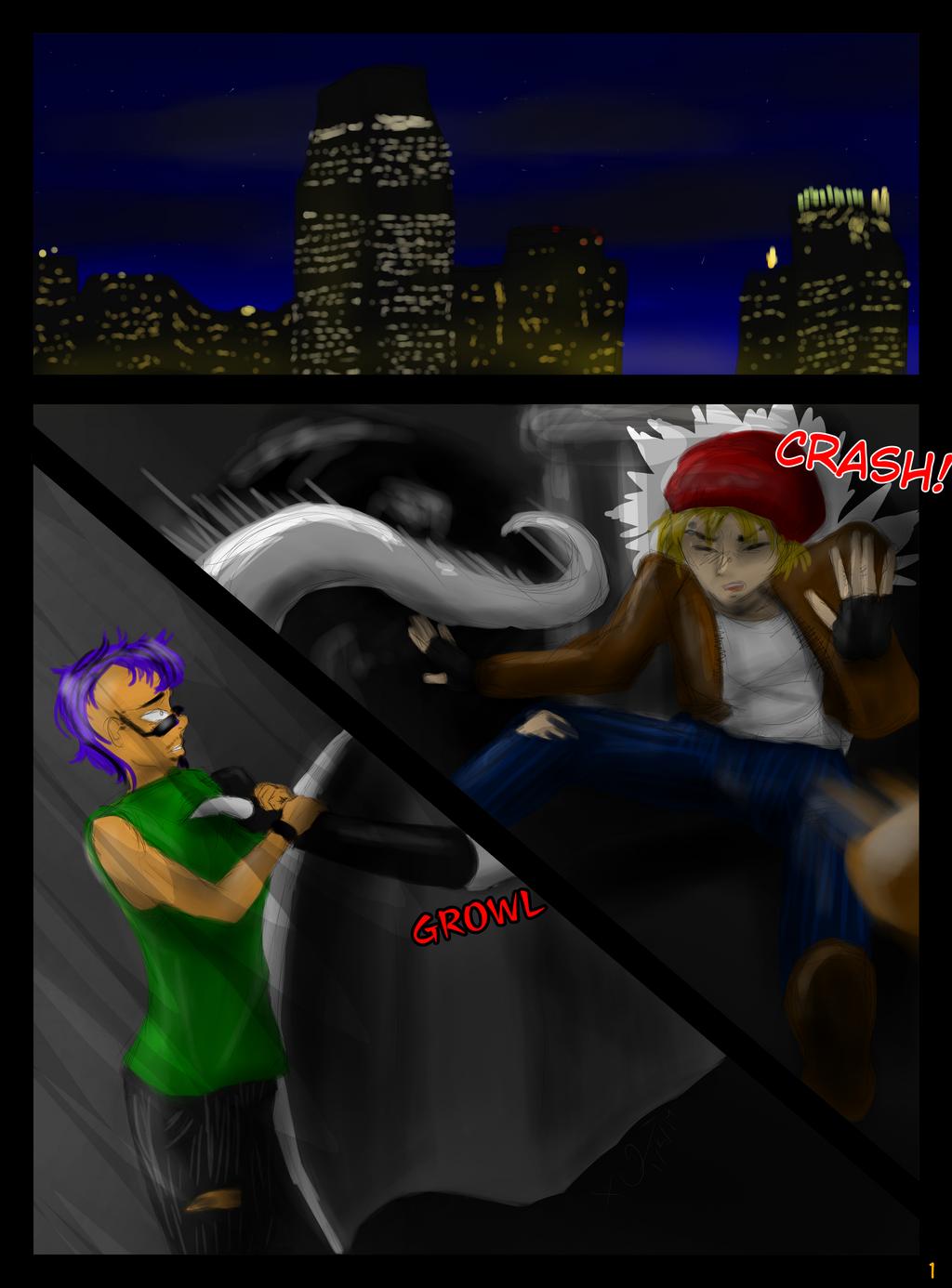 Gargoyles: A Tale of Jersey City Chapter 1 Page 1 by CheribumAngel
