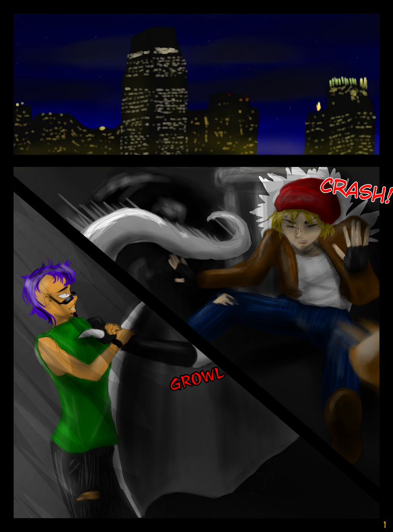 Gargoyles: A Tale of Jersey City Chapter 1 Page 1 by CheribumAngel