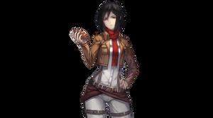 Shingeki no kyojin Mikasa Ackerman Render