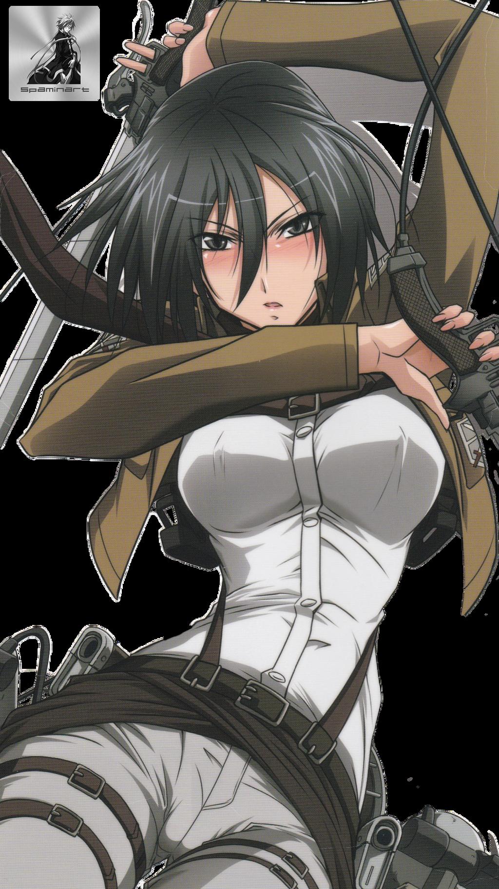 Shingeki no Kyojin Mikasa Ackerman HD Render