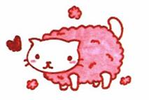 Cotton Candy Kitty by CheshireCatSmile37