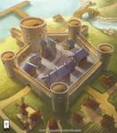 Citadel landscape painting