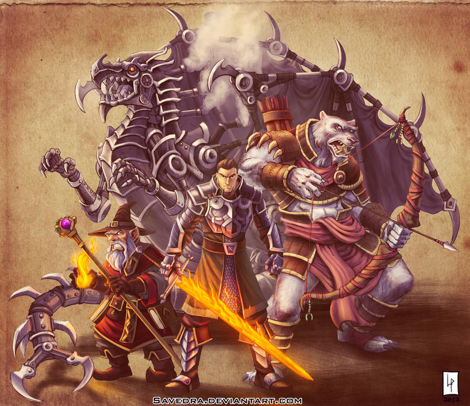 dnd party commission by savedra on deviantart