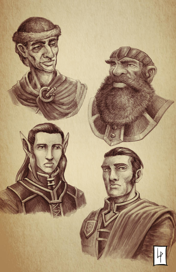Characters sketches comp 1 by Savedra