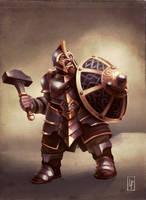 Armored dwarf by Savedra