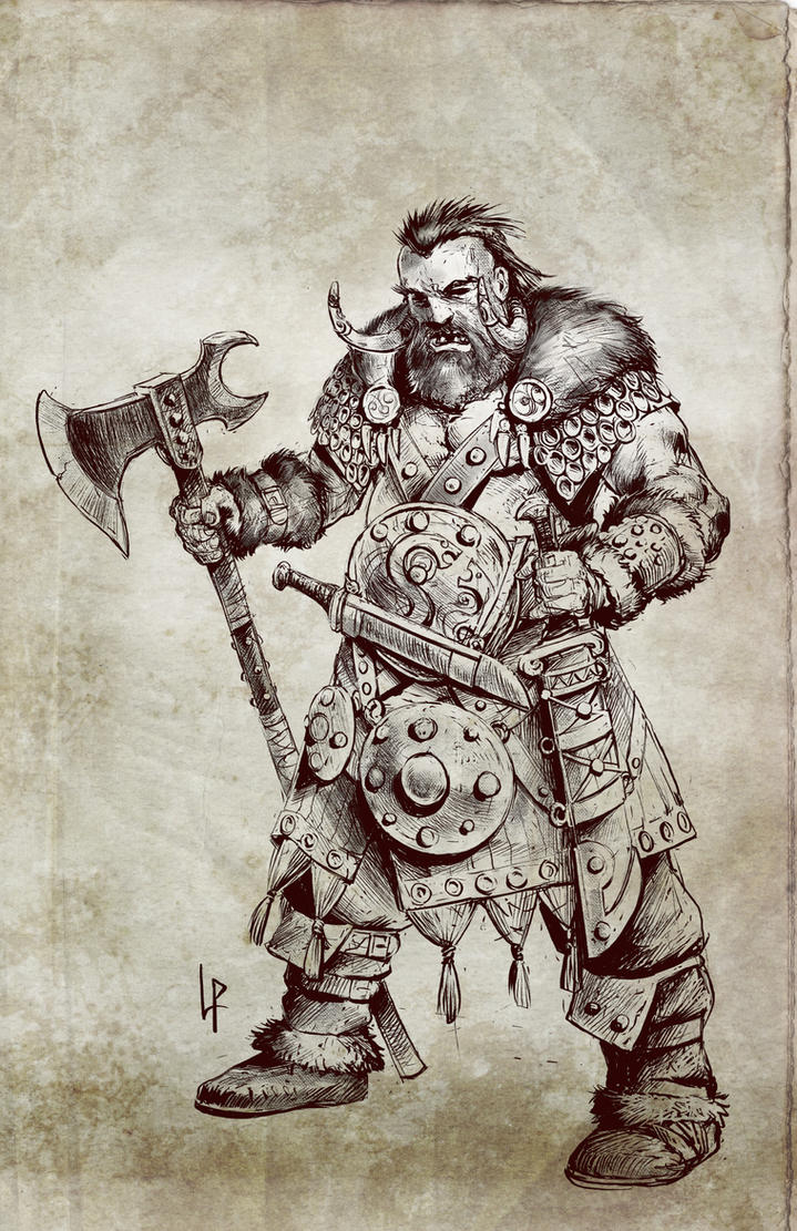 King Dagda the red beard by Savedra