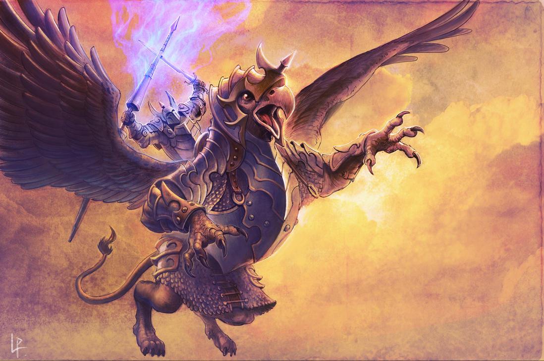 Griphon Rider by Savedra