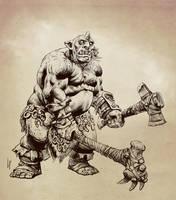 Ogre sketch by Savedra