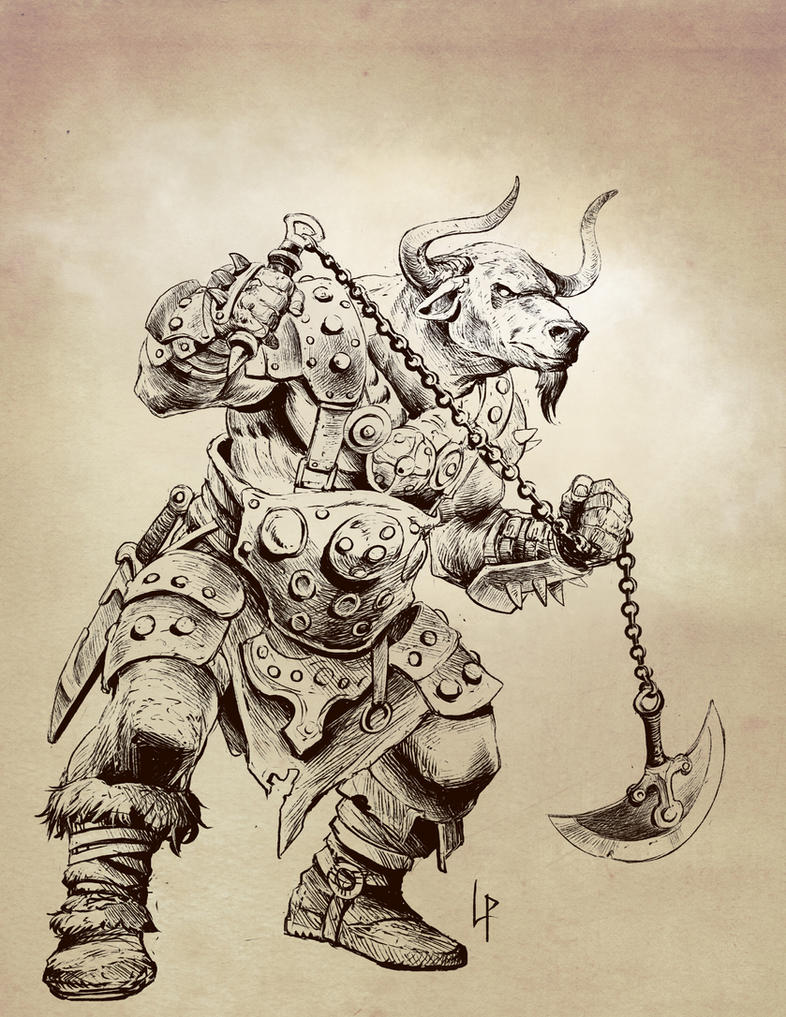 Minotaur sketch by Savedra