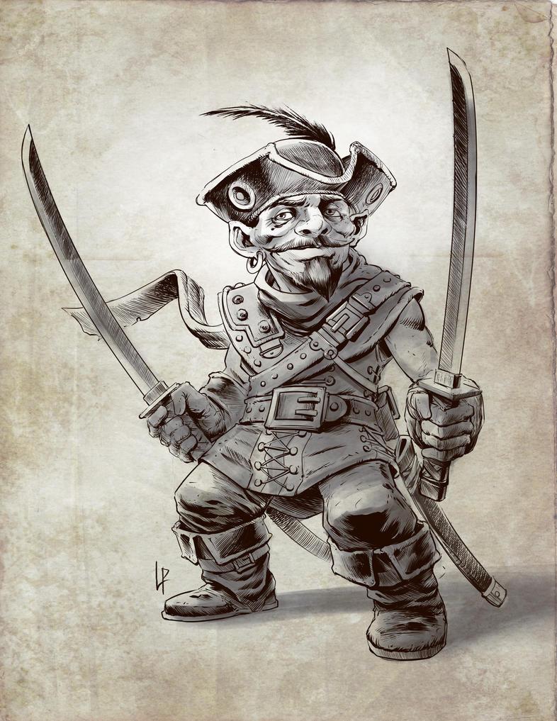 Gnome swashbuckler sketch by Savedra
