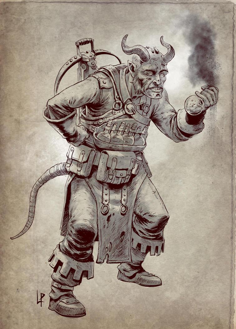 Thiefling Alchemist Sketch by Savedra