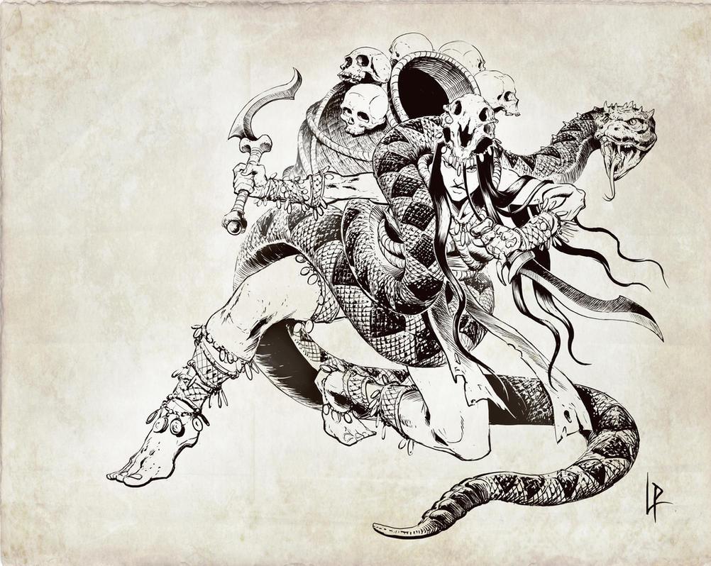 Calyndra, the crawling shadow by Savedra