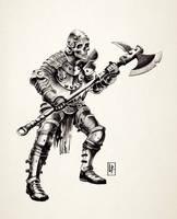 Skull Knight lineart