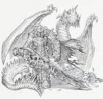 Dragon knight linework