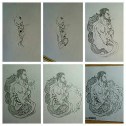 Daenerys and Khal Drogo drawing