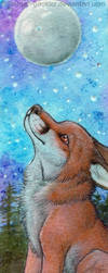 Moon Fox Bookmark by Sternen-Gaukler