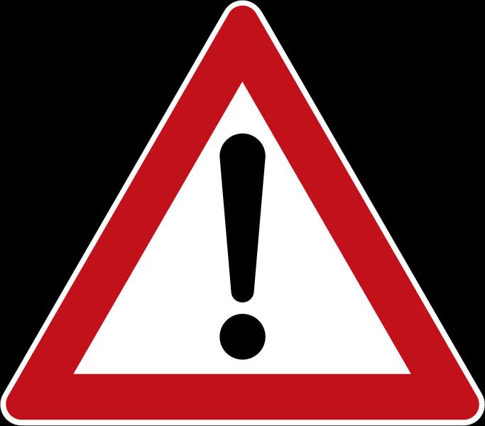 683px-Zeichen 101 - Gefahrstelle, StVO 1970.svg