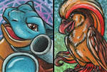 Pokemon ACEOs II by Sternen-Gaukler