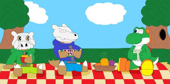 A Picnic With Yoshi