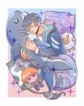 Belphie And His Shark Plushie