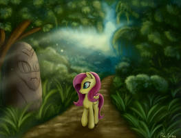 Fluttershy In Forest by Pony-Stark