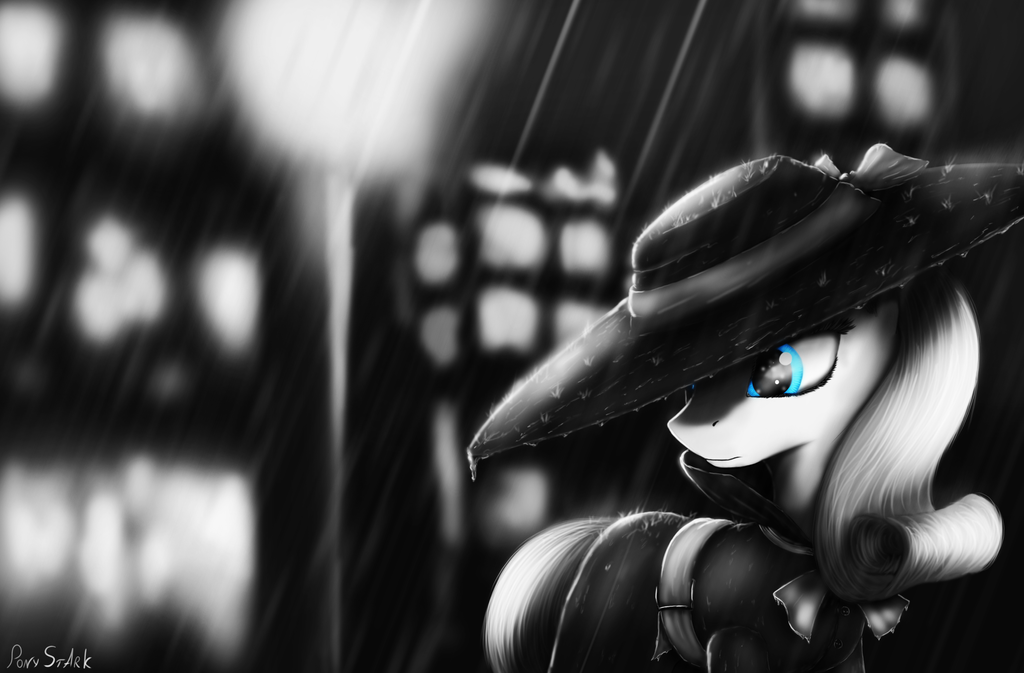 Noire Rarity [+Timelapse] by Pony-Stark