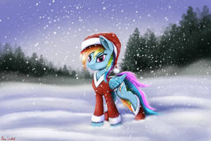 Rainbow Dash XMas by Pony-Stark