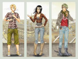 One Piece- Sanji, Robin, Zoro