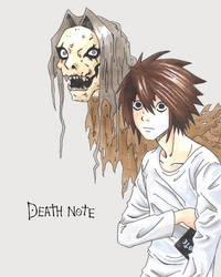 Death Note - L and Shinigami by Arcirithwen