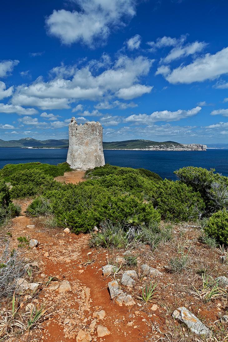 Spanish Tower Sardinia by piro23