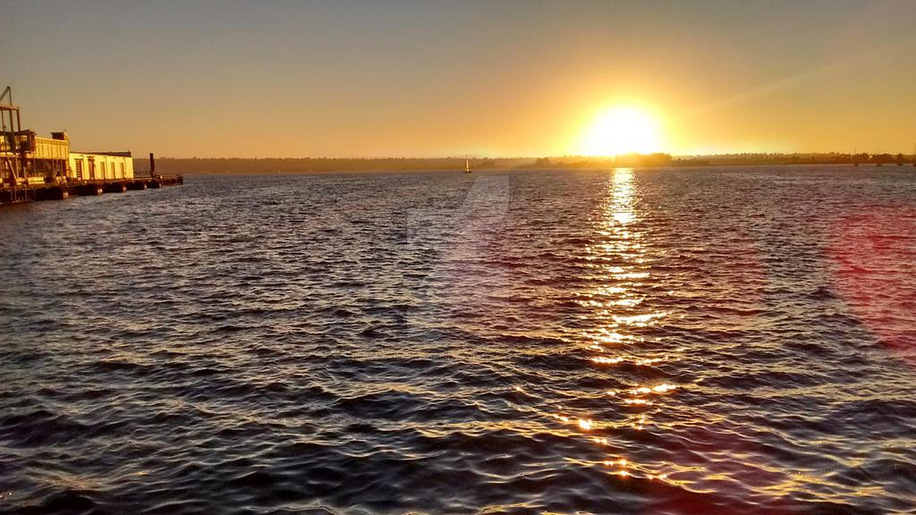 Sunset on the Bay by desert-druid
