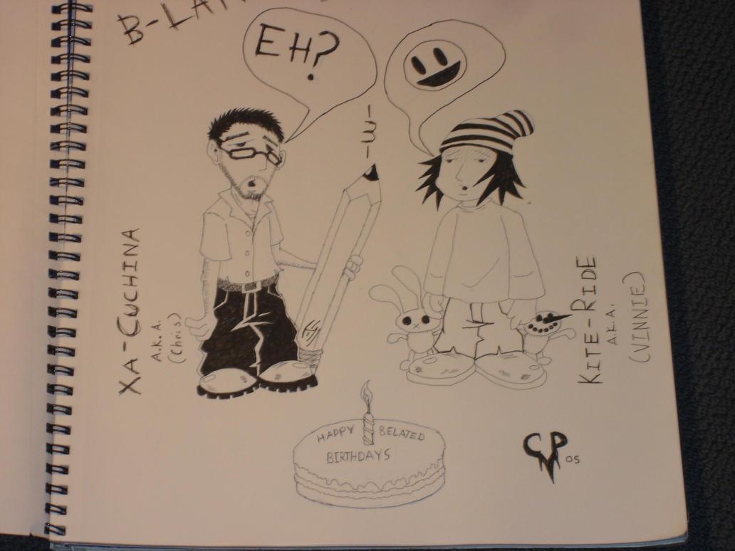 happy b-lated brithdays by xacuchina