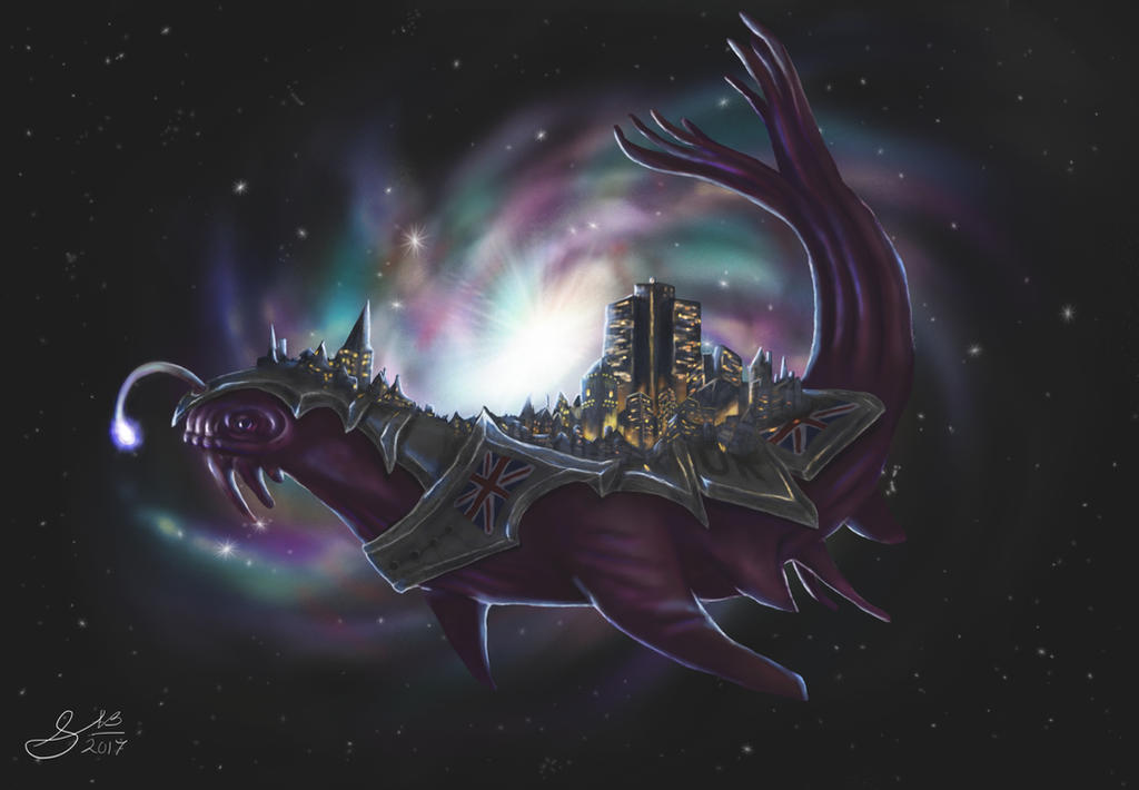 Space whale by Cakecatlady