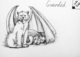Inktober day 13 - Guarded by Cakecatlady