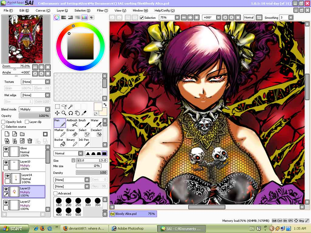 Bloody Alice color W.I.P by HeisT-HeX