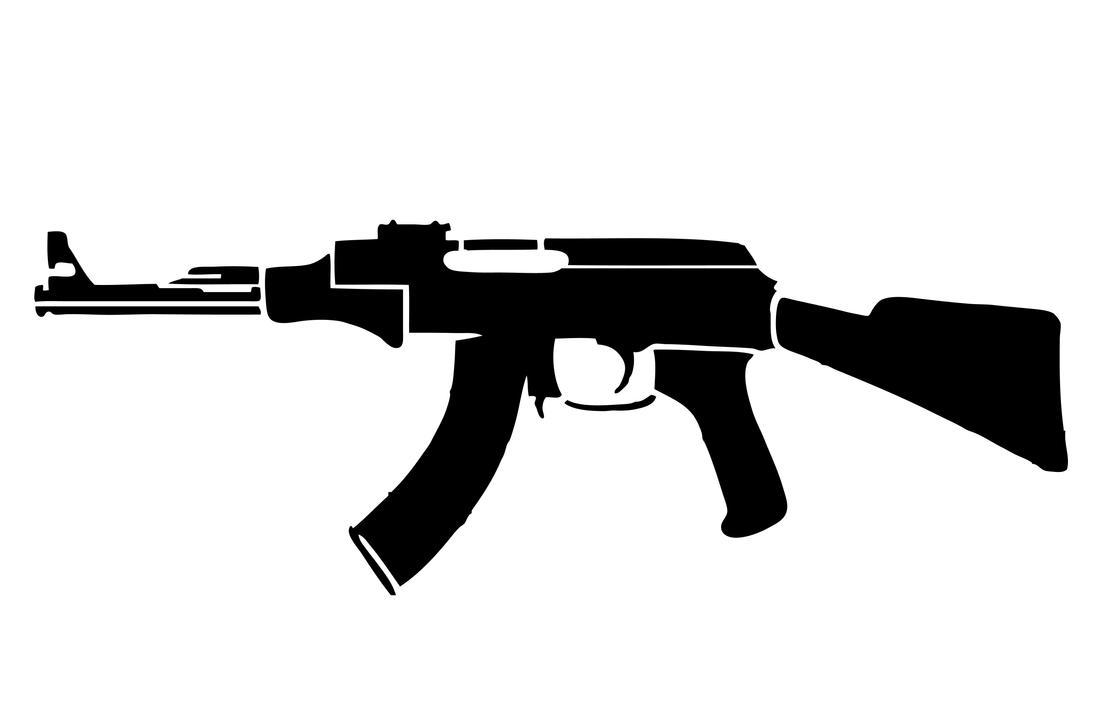 AK 47 Stencil Original by car54