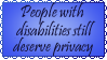 Stamp- Disabilities