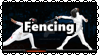 Fencing stamp by Rinthi